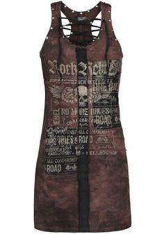 Eyelet Lace Up Dress von Rock Rebel by EMP