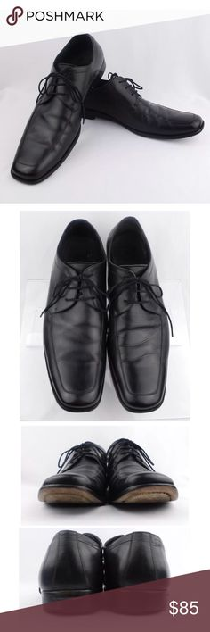 BOSS HUGO BOSS Men's Black Moc Toe Lace Up Oxfords BOSS HUGO BOSS Men's Black Moc Toe Lace Up Oxfords Dress Shoes Size 12  Size: 12 Color: Black Design: Men's Black Moc Toe Lace Up Oxfords Dress Shoes   Condition: Pre-Owned/ Good Condition, There is a soft spot on the sole but still a plenty of life left , Please Check the Photos. Hugo Boss Shoes Oxfords & Derbys