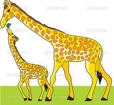 depositphotos_7136496-Giraffe-and-Baby.jpg (1023×944)
