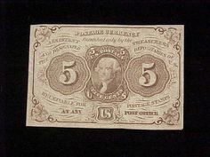 1860's U s Fractional Currency 1st Issue 5 Cent Note Fine Fr 1230 | eBay