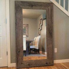 Rustic mirrors: reclaimed wood mirror rustic home decor mirror reclai Rustic Floor Mirrors, Home Decor Mirrors, Diy Home Decor Bedroom, Wall Mirrors, Bedroom Ideas, Decorative Mirrors, Bedroom Rustic, Wood Bedroom, Reclaimed Wood Mirror
