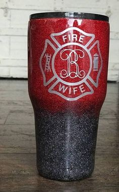 fire wife firefighter fd thin red line 911 dispatch dispatcher public saf - Wify Shirt - Ideas of Wify Shirt - fire wife firefighter fd thin red line 911 dispatch dispatcher public safety Firefighter Decals, Firefighter Love, Vinyl Tumblers, Custom Tumblers, Glitter Cups, Glitter Tumblers, Pink Glitter, Tumbler Cups, Mom Tumbler
