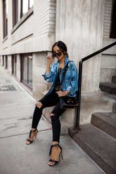 b5055b3d6111 There s nothing more versatile than a denim piece. Get my style tips for  making denim