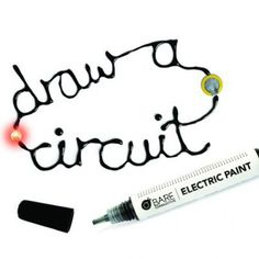 "Bare Conductive Paint Pen: Electric paint. Nontoxic, solvent free and water soluble. You, your child can use it to draw circuits, solder components even do repairs. The pen creates a ""liquid wire"" that will conduct electricity from your power source to a circuit. Works on traditional electronics, plastic, paper, cardboard even textiles and is compatible with conductive thread, PCBs & microcontrollers such as Arduino, Raspberry Pi and FLORA. Conductive when dry. Comes off with soap and water."
