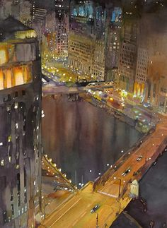 Illustratus: John Salminen.  All I can say is Wow!  Must be an architect....buildings can be a challenge to paint!