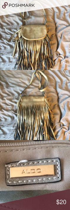 Fringe crossbody purse Barely ever used fringe gray also crossbody purse Aldo Bags Crossbody Bags