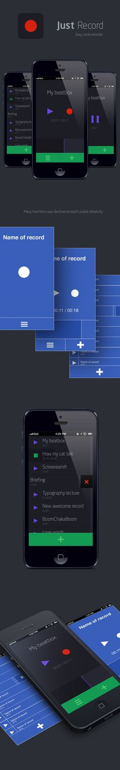 Just Record by Voyover , via Behance