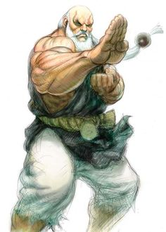 Gouken of Street Fighter 4 Concept Art Street Fighter 1, Street Fighter Tekken, Street Fighter Characters, Character Art, Character Design, World Of Warriors, Street Fights, L5r, King Of Fighters