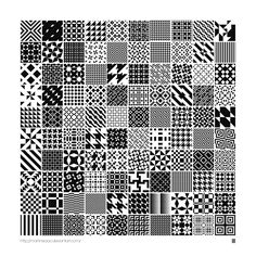 Monochrome Geometric Patterns by MartinIsaac