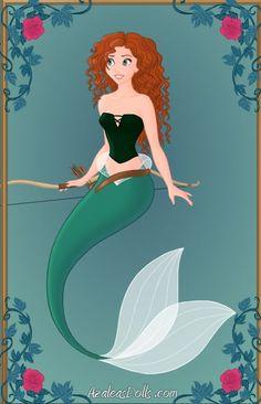 Merida as a mermaid