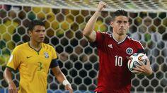 Nominado al Balón de Oro Adidas: el volante ofensivo colombiano, James Rodríguez.