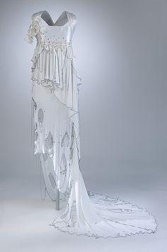 Punk Wedding Dress, Zandra Rhodes (British, born 1940), Nylon, rayon, metal, glass, British