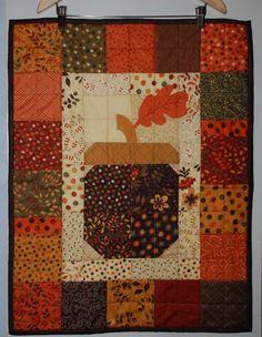 Acorn wall hanging--Fall colors