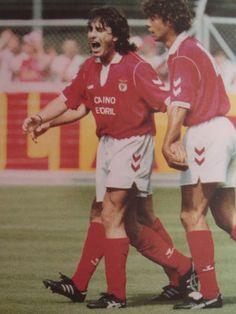 Paulo Futre y Rui Costa en el Benfica 1992/93.