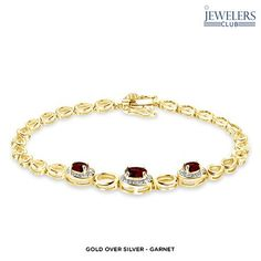 0.9ctw-1.2ctw Genuine Gemstone & Diamond Accent Truly Trio Bracelet in Sterling Silver - Assorted Styles at 88% Savings off Retail!
