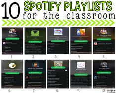10 Spotify Playlists that Every Classroom Needs – Melissa Benson 10 Spotify Playlists that Every Classroom Needs Do use Spotify? I've shared my top 10 playlists that every classroom needs. They are clean, kid friendly, and enjoyable. Classroom Behavior, Music Classroom, Future Classroom, Grade 8 Classroom, Classroom Meeting, Classroom Community, Classroom Environment, Teacher Tools, Teacher Hacks