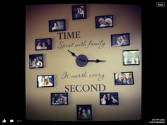 Love this wall clock with pictures