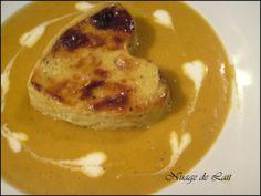 Crème de Lentilles Corail aux Epices et son Flan de Foie Gras