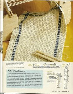 Rigid Heddle Weaving: Weaving Patterns with Pick Up Sticks From www.rigidheddleweaving.com