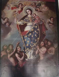 Lady Madonna, Madonna And Child, Colonial Art, Queen Of Heaven, Mama Mary, Blessed Mother Mary, Mary And Jesus, Religious Icons, Christian Art
