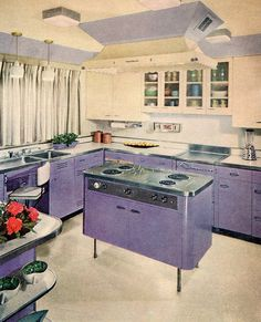 1950s kitchen images | 1950 s colors republic steel kitchens pink kitchen yellow kitchen ...