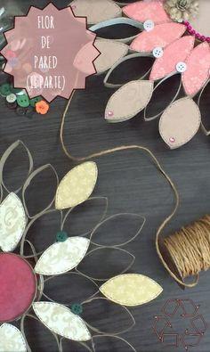Si quieres decorar tu pared y lo quieres hacer reciclando, lo puedes hacer con tubos de papel higiénico y una lata. Entra aquí y descrubre cómo. FLOR DE PARED II PARTE: http://srtaglezh.wix.com/srtaglezh#!tubos-de-papel-higinico-flor-de-pared-/cm5f