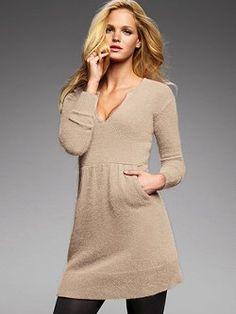 VS angora sweater dress+ leggings? Perfection