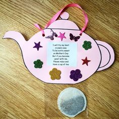 You're Tea-riffic teapot craft – FREE printable teapot template Mothers Day Crafts Preschool, Sunday School Crafts, Fathers Day Crafts, Toddler Crafts, Kids Crafts, Mothers Day Poems, Mother Poems, Mothers Day Cards, Mother Day Gifts