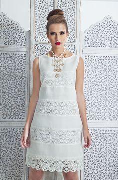 Lace dress 00050 ~ Dresses for Women Beautiful White Dresses, Little White Dresses, White Outfits, Cute Dresses, Casual Dresses, Fashion Dresses, Summer Dresses, Dress Skirt, Lace Dress