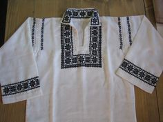 Embroidery Stitches, Long Sleeve, Sleeves, Mens Tops, T Shirt, Pants, Fashion, Embroidered Blouse, Embroidery