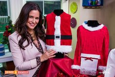 Hallmark channel -  take a simple red vest and make it a holiday using a few embellishments