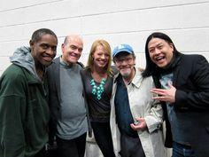 Voyager Crew - actors who played Tuvok, the Doctor, Seven of Nine, Neelix, and Harry Kim.