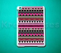 iPad mini case -Pink Aztec Trible Pattern Cute iPad mini cover for iPad mini