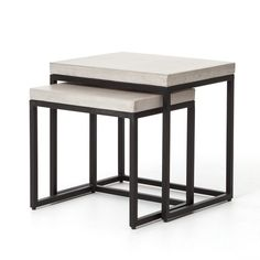 Living Room | Maximus Nesting Side Tables-Natural Conc $125 outdoor for deck