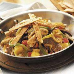 Fajita Skillet Recipe from Taste of Home #One_Pot_Dinner  #Quick_Dinner