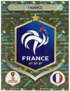France crest card for the 2018 World Cup Finals. France World Cup 2018, World Cup Russia 2018, Match Of The Day, Word Cup, World Cup Final, Soccer World, Fifa World Cup, Neymar, Real Madrid