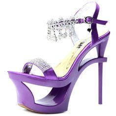 #Elegant #Purple #High #Heel #Sandal with #Rhinestone #Embellishment. See hottest fashion and news on www.maxviral.com #ShoeLover