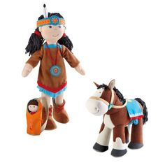 Haba American Indian soft doll and horse set - for my girl