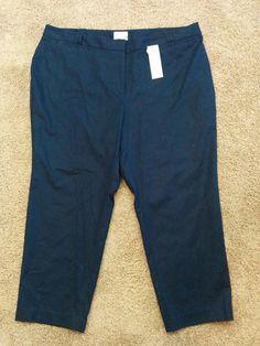 Charter Club navy blue slim leg Curvy Fit pants, Tummy Slimming, Plus 22W, #2056 #CharterClub #SlimSkinny