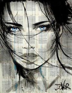 Loui Jover - another kind Art Sketches, Art Drawings, Newspaper Art, Human Art, Human Human, Drawing People, Portrait Art, Face Art, Collage Art