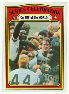 1972 Topps Baseball #230 World Series Celebration Pittsburgh Pirates NM+ $4.50