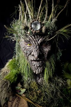 for the faeries ❧ green man, tree spirit, ent Face Off, Magical Creatures, Fantasy Creatures, Forest Creatures, Tree People, Forest People, Tree Faces, Tree Art, Folklore