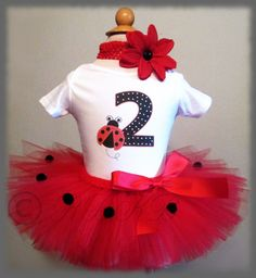 Ladybug Birthday Outfit, Birthday Outfit, Birthday Outfit, 2nd Birthday Outfit