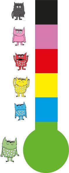 SEO: Thema Het Kleurenmonster - Emotiemeter Monster Activities, Kids Learning Activities, Therapy Activities, Emotions Preschool, Preschool Classroom, Therapy Worksheets, Feelings And Emotions, Working With Children, Eyfs
