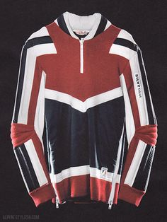 Vintage Silvy Tricot ski race sweater as seen in Collezioni Sport & Street, no. 68 A/W 2013/2014.