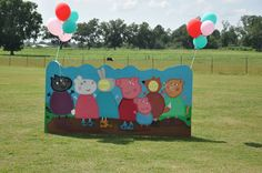 Peppa Pig photo board for birthday party