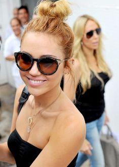 Miley Cyrus Bun Hairstyle