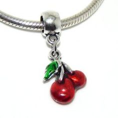 Authentic silver charm sterling silver charm beads fits pandora authentic silver charm sterling silver charm beads fits pandora charm and european charm bracelets red cherry charm jewels by meweaccessoriescom on sciox Images