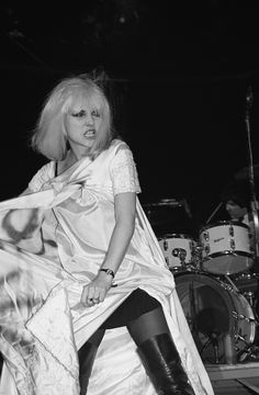 "Blondie was playing the Whisky with Tom Petty and the Heartbreakers. Tom had spray-painted ""TP"" on the front of the wedding dress that Debbie was wearing. She started ripping it during the second show that night, during the song ""Rip Her to Shreds""."