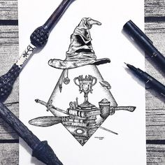 art dessin Artist Illustrates Magical Outdoor Adventures with Striking Stippling Art Harry Potter Anime, Harry Potter Fan Art, Harry Potter Journal, Harry Potter Tattoos, Harry Potter Sketch, Harry Potter Drawings, Harry Potter Film, Hogwarts, Art Sketches